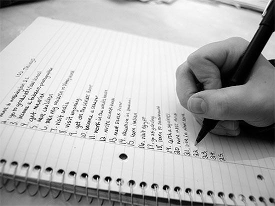Выписываем список потенциальных тем для блога